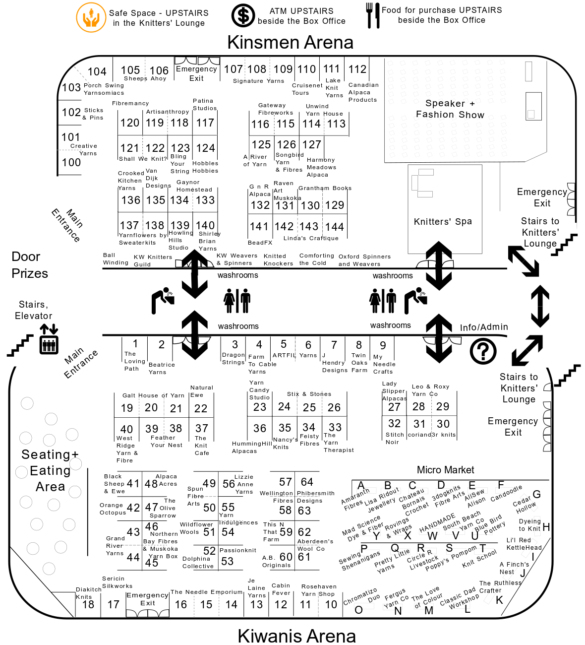 2019 Knitters' Fair Layout Map